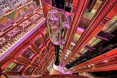 Atrium angles. (Ian Ramsay Photographics) Tags: sydney newsouthwales australia atrium deck carnivalspirit impressive sight creates elevator lift passenger
