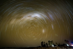 SCP Star Trail - 60 mins Single Exposure (myshutterworld) Tags: milky way astrophotography dslr large small magellanic clouds lakecoolmunda nightscape panorama mosaic bow longexposure landscape night darksky serene picturesque gorgeous scp startrail southern hemisphere galacticcenter