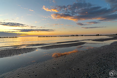 Lidi di Comacchio (Ferdinando Francini) Tags: comacchio alba spiaggia mare nikond5200 tokina1116 nuvole riflessi
