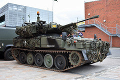 Ex-British Army Sabre Light Tank, Belfast Docks, May 2019 (nathanlawrence785) Tags: vehicles cars show rally summer spring northern ireland ni ulster gun howitzer tank sabre army locomotive steam engine
