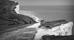 Beachy Head (plot19) Tags: rx100 rocks road rock sony sea coast cliffs britain blackwhite blackandwhite love light landscape seascape seaside lighthouse limestone east sussex beauty beachy head plot19 photography people england uk south