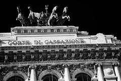 corte di cassazione (khrawlings) Tags: cortedicassazione palace justice court rome italy bw blackandwhite contrast monochrome horses architecture