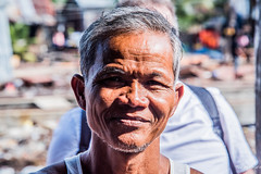 2019 - Cambodia - Sihanoukville - Tumnuk Rolok (Ted's photos - For Me & You) Tags: 2019 cambodia cropped nikon nikond750 nikonfx tedmcgrath tedsphotos vignetting pose posing man male portrait face bokeh beard old oldman 1people people ក្រុងព្រះសីហនុ