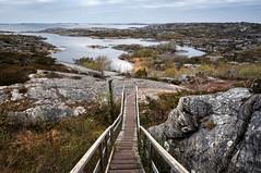 A Stairway to Nature (henriksundholm.com) Tags: landscape nature daylight steps stairs coast västkusten marstrand kungälv rock lake grass horizon sverige sweden hdr bohuslän