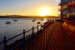 Estuary sunset (Nige H (Thanks for 20m views)) Tags: nature landscape sunset shadows boats sea estuary estuarysunset devon england southwestengland river riverexe