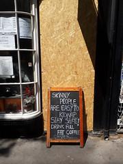 10th May 2019 (themostinept) Tags: 1woburnwalk chivessandwichbar london wc1 kingscross camden bloomsbury chalkboard sign door closedcafe cafe emptycafe doorway windows words