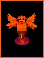 The Demon Orann Gee (Karf Oohlu) Tags: lego moc figure demon wingeddemon thingswithwings orange