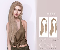 Opale Hair . Iness @ Equal10 May 2019 (Opale HairStore) Tags: opale hair equal event 3d salon iness store styles sl secondlife