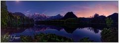 Almsee Mondlicht (Karl Glinsner) Tags: upperaustria oberösterreich almtal almsee outdoors see lake wasser water mondlicht moonlicht abend evening clouds spiegelung reflection berge mountains dämmerung dusk österreich austria