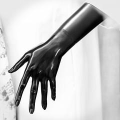 The Black Hand (TablinumCarlson) Tags: europa europe österreich austria wien vienna schaufensterpuppe dummy hand arm black schwarz highkey leica leicam m240 m summicron shop geschäft lady puppe frau woman girl 90mm