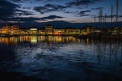 Harbour dusk..... (Dafydd Penguin) Tags: after dark night shots nighthawks hawks sea water harbour harbor habour dusk twilight sailboat masts lefkas levkas lefkada ionian island greece leica m10 summicron f2 35mm