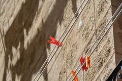 red pegs (Hayashina) Tags: sardegna alghero italy red peg wall shsadow sundaylights