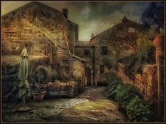 """from the series """"Walking in Italy"""" .Civita di Bagnoregio.(iPhoneX, Snapseed, iColorama,) (odinvadim) Tags: textured mytravelgram iphoneart iphoneography iphoneonly old evening painterlymobileart snapseed specialist textures travel icolorama oldhouse iphonex editmaster landscape"""
