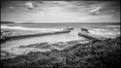 Low Tide in the Harbour (Darren Wilkin) Tags: landscape seascape whitby longexposure whitbyharbour mono