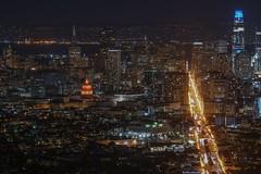 SFO (karinavera) Tags: city longexposure night photography cityscape urban ilcea7m2 sunset sanfrancisco sfo view twinpeaks