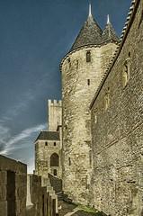 CARCASSONNE-042--OCCITANIE-_DSC0445 (bercast) Tags: aude carcassonne chateau chateaumedival france lesremparts occitanie ue bc bercast lacitédecarcassonne lamuraille