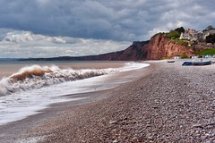 Budleigh beach (Nige H (Thanks for 25m views)) Tags: nature landscape seascape devon sea beach pebbles pebblebeach budleighsalterton england wave