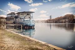 On the Rhône again... (Sera69) Tags: lyon rhône france fleuve tour incity confluences eau rivière bateau