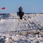 Salekhard - la gara con le motoslitte