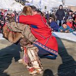 Salekhard - una gara di lotta durante il Festival delle renne
