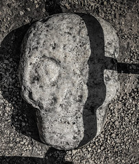 Skull carving at the Ballcourt in Cobá Maya Ruins - Coba Mexico (mbell1975) Tags: tulum quintanaroo mexico skull carving ballcourt cobá maya ruins coba yucatán peninsula yucatan mayan archeological park parc ancient mesoamerican ballgame stadium arena sport sports game sculpture statue