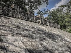 Mesoamerican ballcourt at the Cobá Maya Ruins - Coba Mexico (mbell1975) Tags: tulum quintanaroo mexico mesoamerican ballcourt cobá maya ruins coba yucatán peninsula yucatan mayan archeological park parc ancient ballgame stadium arena sport sports game