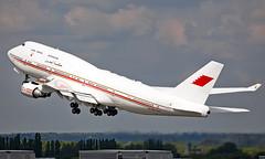A9C-HMK - Boeing 747-4P8 - LHR (Seán Noel O'Connell) Tags: bahrainroyalflight a9chmk boeing 7474p8 b747 b744 747 heathrowairport heathrow lhr egll bah1 cai heca bizjet aviation avgeek aviationphotography planespotting