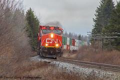 CN 120 Approaching Brookfield, NS (Going Trackside Photography) Tags: canadian national railway canada nova scotia intermodal train rail cnr cn railroad