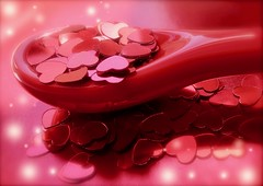 A Spoonful Of Love (Pufalump) Tags: macromondays aspoonful hearts love red macro spoonful light