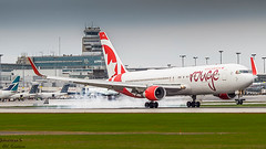 Straight from Barcelona. (JonathanSzt) Tags: 767 aviation airplane aircanadarouge