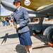 RCAF Reenactor Sarah With A Red Rose in Kodachrome