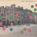 mixed media collage on vintage postcard 3