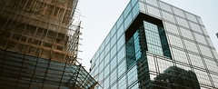 bamboo architecture hong kong (stevenwonggggg) Tags: hongkong urban hasselblad film xpan architecture bamboo