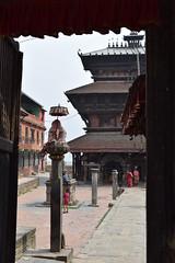 entrance of Bagh Bhairab temple (sandhya.sahi) Tags: kirtipur travel travelphotography traveler nepal nikond3300 photography serene sculpture architecture shrine newarartists newari newaritown ancient history explore bhairab temple hindu god dslr nikon