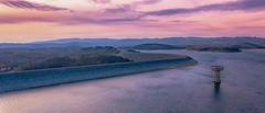 Reservoir Sunset (Shutterboost Photography) Tags: melbourne australia cardiniareservoir dji mavic2pro m2p polarpro victoria water shutterboost golden sunset pink shutterboostphotography gameofdronez dronesandthesky droneoftheday aerialphotography