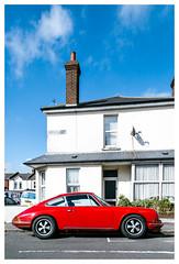 A Vintage Red (Wil Wardle) Tags: wilwardle photography canon 5dmk3 f28 adobelightroom ebphoto britain britishphotographer england porsche exploringtheautomobile carportraiture german germanautomobile sigmaart35mm street streetstyle streetphotography eastbourne seeinside seeinsideseaside red