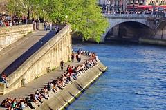 486 Paris en Mars 2019 - Quai des Orfèvres et Pont Saint-Michel (paspog) Tags: paris france mars march märz quaidesorfèvres quai seine 2019