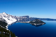 Crater Lake East (Russell.Pics) Tags: crater lake oregon wizard island mountains a6000 sony national park volcano