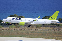 YL-CSC (QC PHOTOGRAPHY) Tags: rhodes diagoras greece july 27th 2018 air baltic a220200 ylcsc