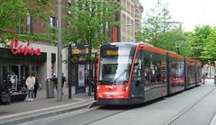 HTM tram 5011 at the Centrum stop in Den Haag. (calderwoodroy) Tags: tramlijn15 service15 rnet tramway tram 5011 htm tramstop centrum thehague denhaag zuidholland netherlands nederland