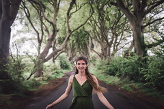 Nothing To Fear (kirstin.devens) Tags: 2019 may canoneos70d sigma1835 darkhedges portraits portrait sister green trees dress uk northofireland northernireland got