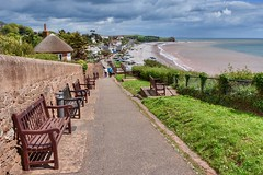 Budleigh Benches (Nige H (Thanks for 25m views)) Tags: nature landscape sea seascape devon england budleighsalterton benches happybenchmonday benchmonday beach