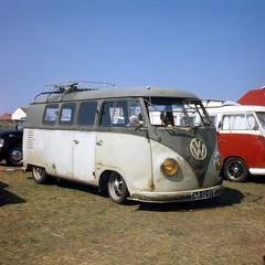 Patina'd T1, found in Zandvoort (Ronald_H) Tags: t1 vintage zandvoort bulli vw volkswagen bus patina yashica mat 124 lomography slide film tlr ar1207