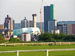 Leeds Caribbean Groundsman (oneofmanybills) Tags: leeds caribbean cricket club skyline groundsman green city arena lawnmower
