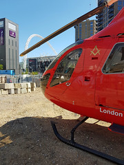 London's Air Ambulance in Wembley (kertappa) Tags: 20190513110226 air ambulance londons london hems doctor paramedics hospital glndn emergency helicopter kertappa wembley