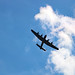 Avro Lancaster flying over its home Canadian Warplane Heritage Museum