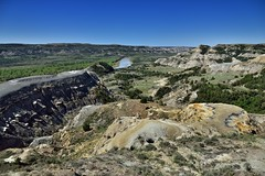 A Changing Landscape While Standing at River Bend Overlook (Theodore Roosevelt National Park)