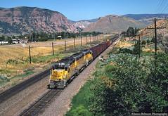 Heading Through Henefer (jamesbelmont) Tags: unionpacific parkcitylocal henefer utah train railroad railway locomotive emd gp30 gp30b interstate84 evanstonsubdivision