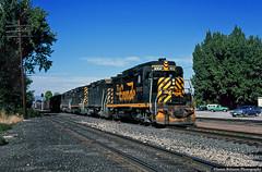 Classic Lines of an EMD GP30 (jamesbelmont) Tags: railroad railway train locomotive emd gp30 riogrande drgw manifest provo utah monza spyder chevrolet