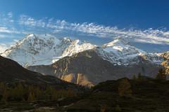 Fletschhorn splendente (cesco.pb) Tags: passodelsempione simplonpass fletschhorn switzerland svizzera alps alpi dawn alba sunrise canon canoneos60d tamronsp1750mmf28xrdiiivcld montagna mountains